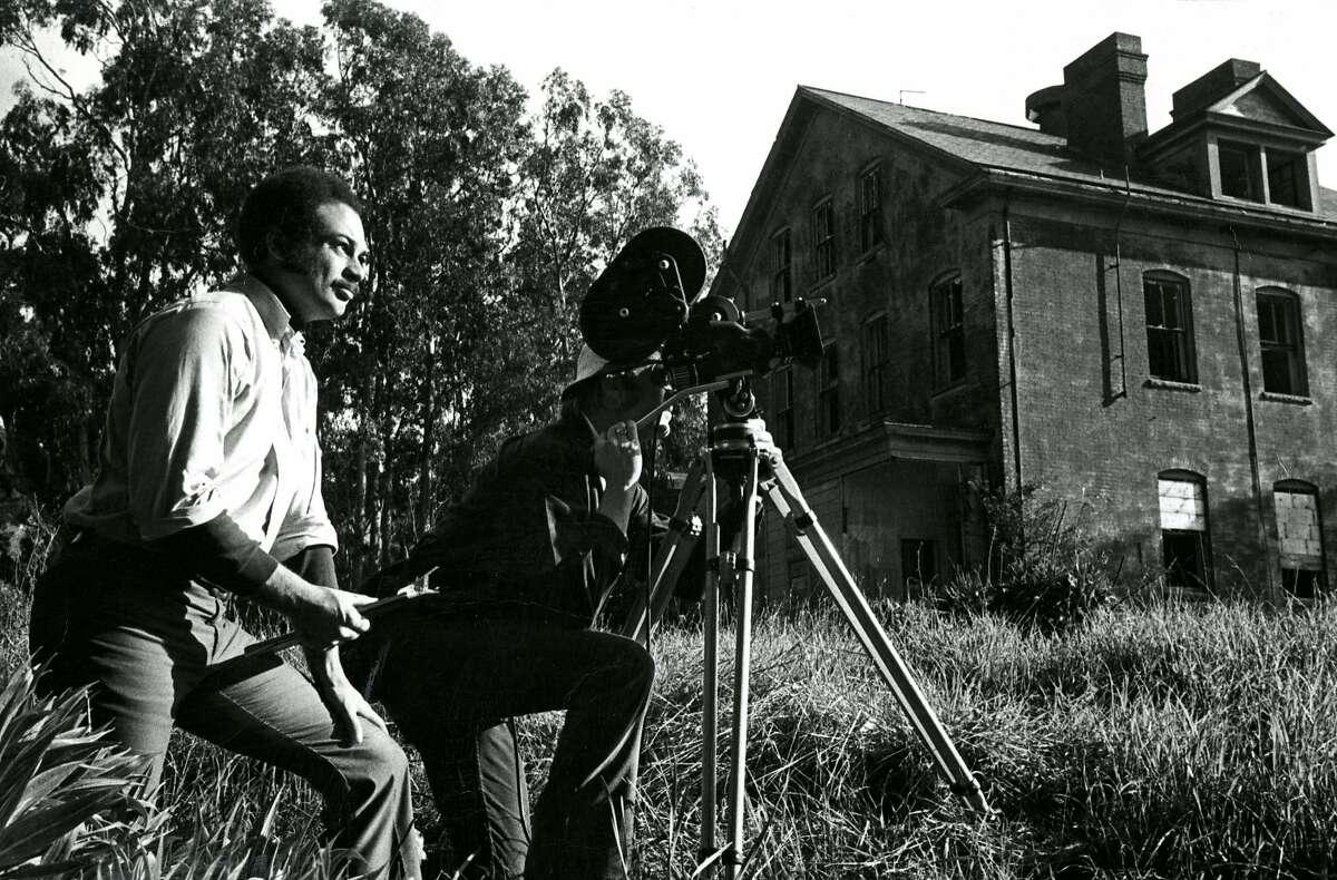 Ray Taliaferro films a documentary on Angel Island. May 23, 1971.