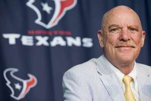 Houston Texans owner Bob McNair talks about his cancer battle during a news conference at NRG Stadium Thursday, Aug. 7, 2014, in Houston. After a 10-month ordeal in which he battled two forms of cancer at the M.D. Anderson Cancer Center, McNair has been given a clean bill of health by the team of doctors that treated him. McNair's remarkable recovery has included ground-breaking experimental treatment for chronic lymphocytic leukemia. ( Brett Coomer / Houston Chronicle )
