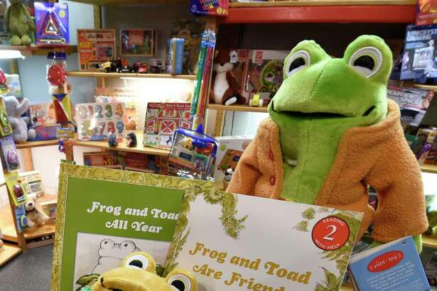 Frog and Toad dolls and books on display at the Open Door Bookstore in Schenectady, N.Y. (Times Union archive)