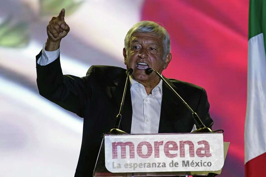 Mexican President Andres Manuel Lopez Obrador said that foreign investors won't be allowed to participate in plans to modernize Mexico's refineries.  Photo: Ramon Espinosa, STF / Associated Press / Copyright 2018 The Associated Press. All rights reserved