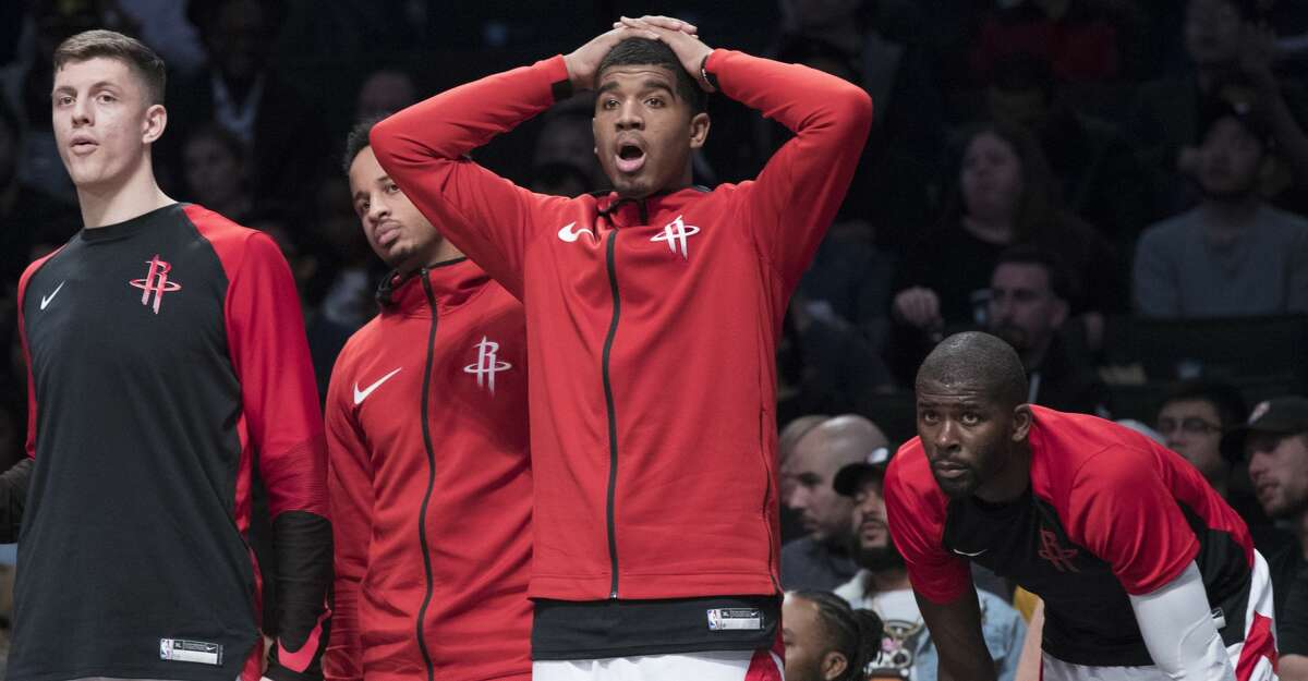 PHOTOS: Rockets game-by-game Houston Rockets forward Isaiah Hartenstein, left, guard Michael Carter-Williams, second from left, forward Marquese Chriss, center, and guard Chris Paul react from the bench during the second half of an NBA basketball game against the Brooklyn Nets, Friday, Nov. 2, 2018, in New York. The Rockets won 119-111. (AP Photo/Mary Altaffer) Browse through the photos to see how the Rockets have fared in each game this season.