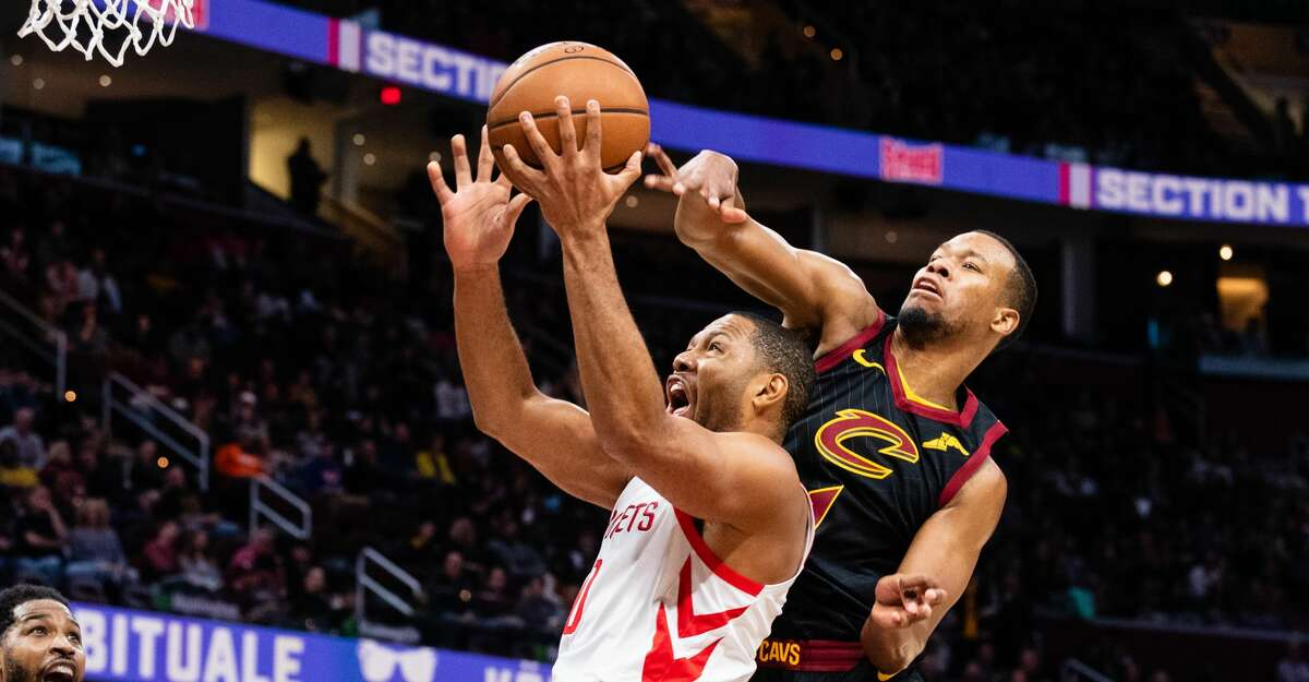 PHOTOS: Rockets game-by-game Rodney Hood #1 of the Cleveland Cavaliers tries to block Eric Gordon #10 of the Houston Rockets during the first half at Quicken Loans Arena on November 24, 2018 in Cleveland, Ohio. (Photo by Jason Miller/Getty Images) Browse through the photos to see how the Rockets have fared in each game this season.