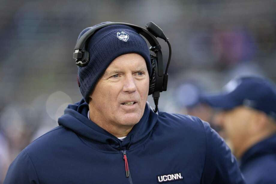 UConn coach Randy Edsall works the sideline during Saturday's loss to Temple. Photo: Stephen Dunn / Associated Press / Copyright 2018 The Associated Press. All rights reserved
