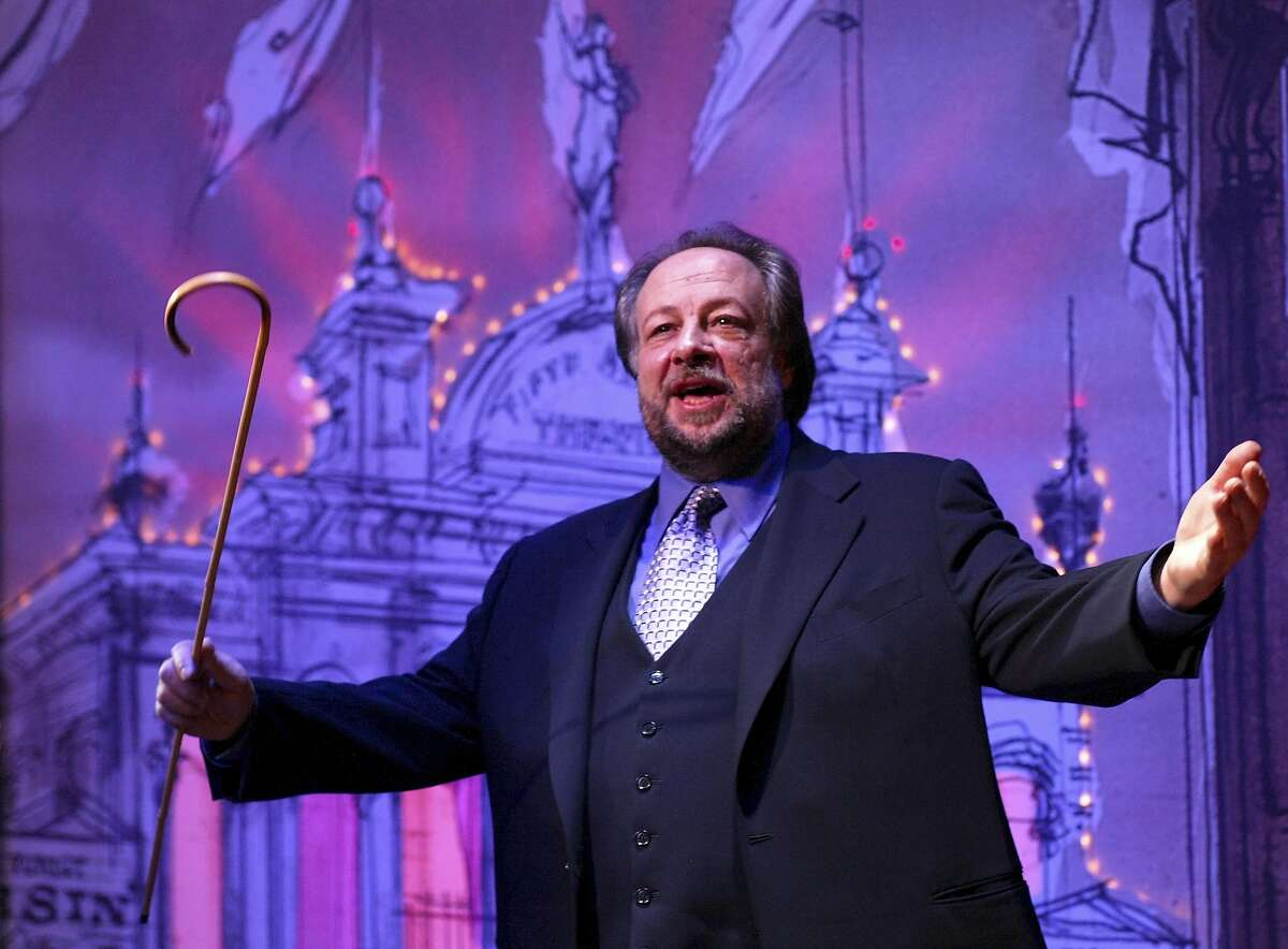 """FILE � Ricky Jay performs in the play """"Ricky Jay: On the Stem"""" at the Second Stage Theater in New York, April 29, 2002. Jay, a revered sleight-of-hand magician and actor who shined a light on centuries of illusionists and consulted with Hollywood to make the impossible seem real, died Nov. 24, 2018, at his home in Los Angeles. He was 72. (Sara Krulwich/The New York Times)"""