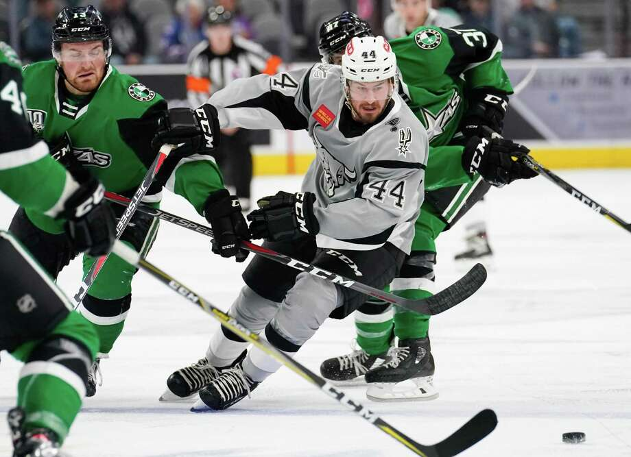 The Texas Stars play the San Antonio Rampage during the second period of an AHL hockey game, Sunday, Nov. 25, 2018, at the AT&T Center in San Antonio, Texas. (Darren Abate/AHL) Photo: Darren Abate, FRE / Darren Abate/AHL / Darren Abate Media, LLC/AHL/San Antonio Rampage