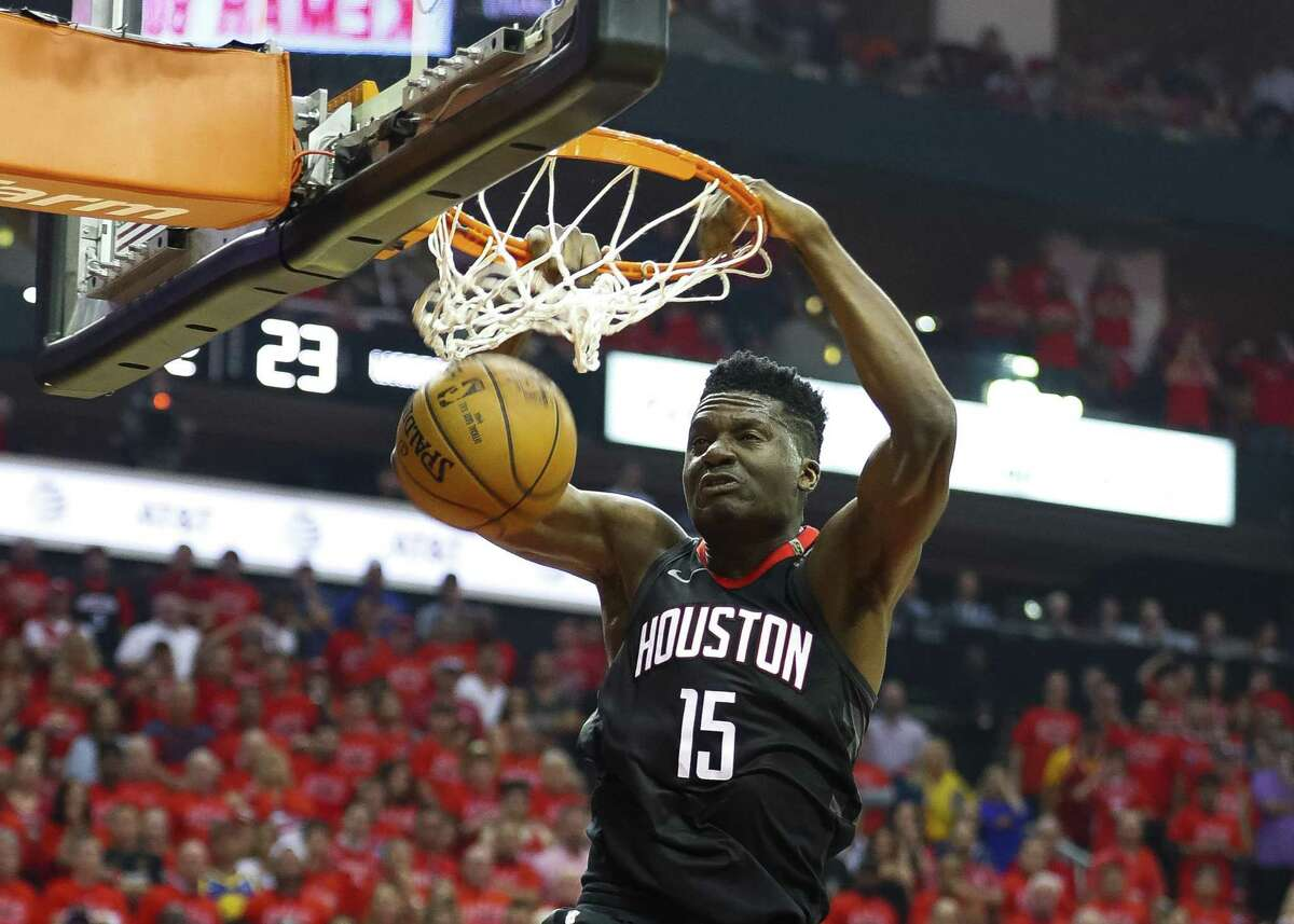 Rockets center Clint Capela has scored in double figures in a career-high 17 consecutive games.