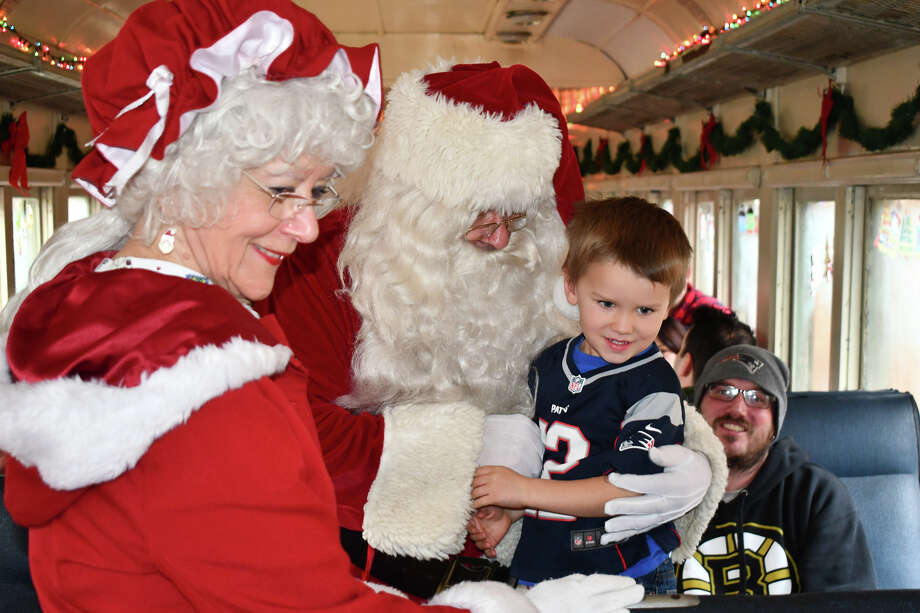 Families kicked off the unofficial start to the holiday season on Sunday, November 25, 2018 when they boarded the Santa Express train at the New England Railroad Museum in Thomaston, Conn. Children met with Santa Claus, sang Christmas Carols and enjoyed hot chocolate and gifts. Were you SEEN? Photo: Lara Green- Kazlauskas/ Hearst Media
