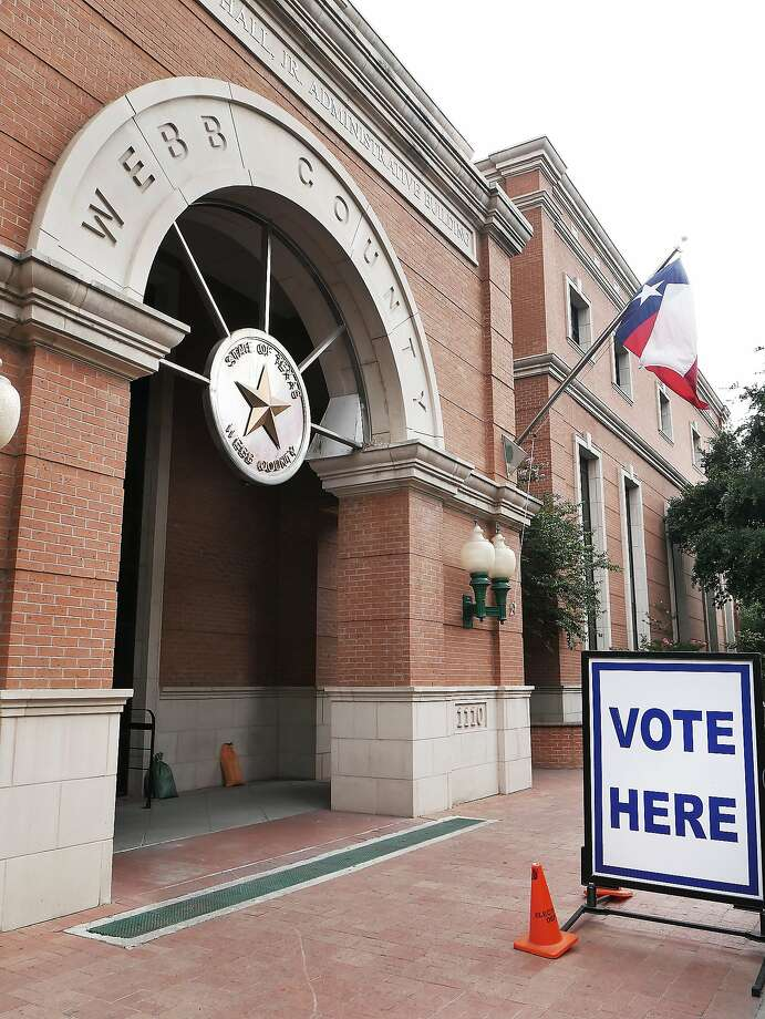The Billy Hall Jr., Administrative Building at 1110 Washington Street is one of five permanent early voting sites for the May 22, 2018 Democratic Primary Runoff Election. Early voting runs from May 14-18. Three mobile branches will be available at sites throughout the county. Photo: Cuate Santos, Laredo Morning Times