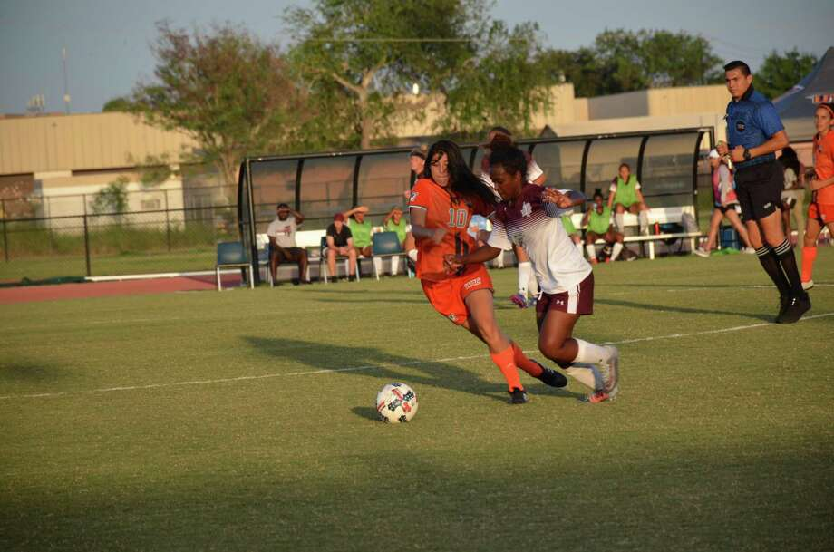 Former United South soccer star Emily Zapata finished her freshman campaign at UTRGV with 11 goals. Photo: Courtesy Of UTRGV Athletics