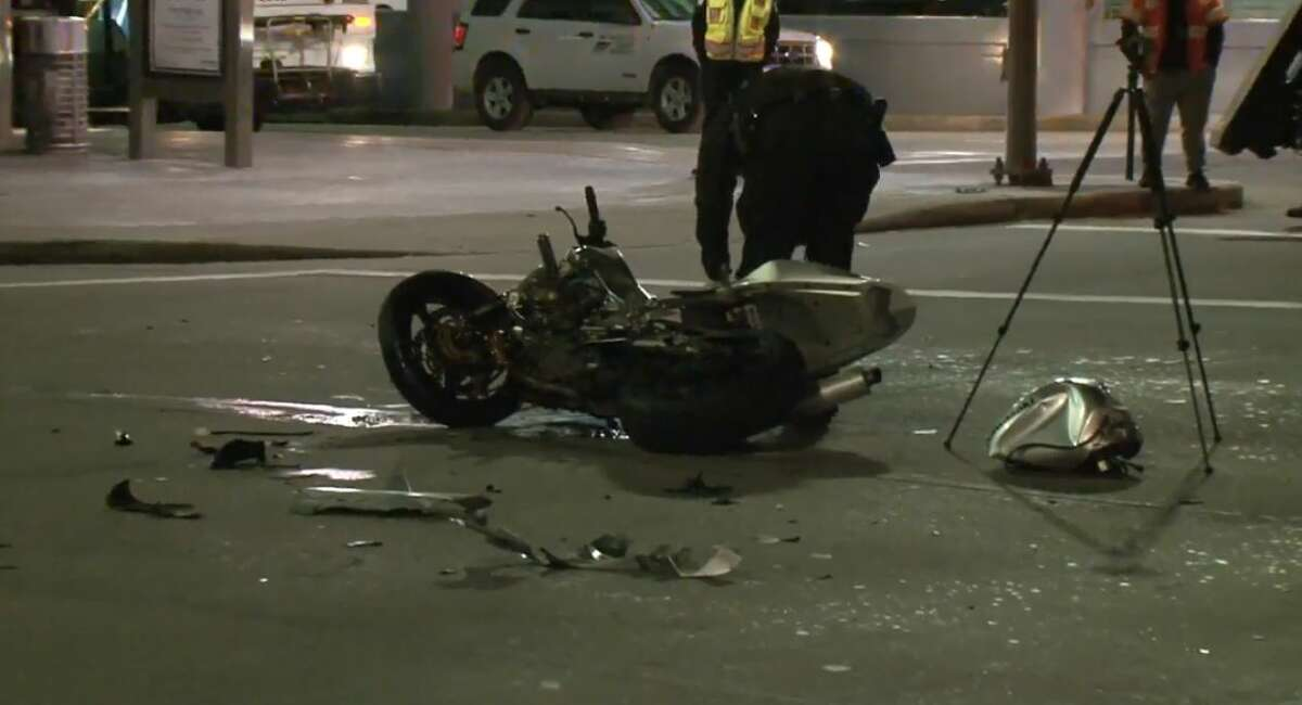 A motorcyclist crashed into an SUV on Travis and Pierce on Sunday, Nov. 25, 2018.