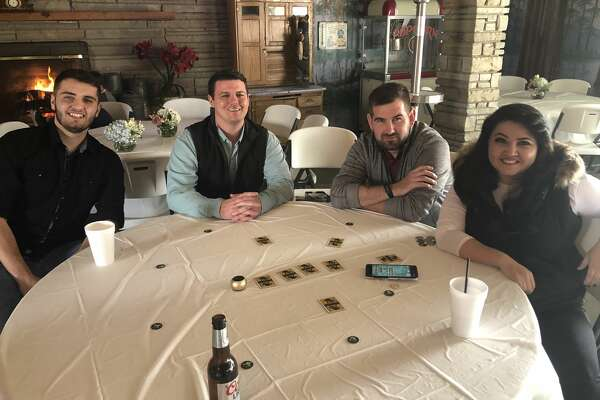 Friendsgiving: Walker Akers, from left, Keith Turman, Tom Migchelbrink and Rebecca Haberman