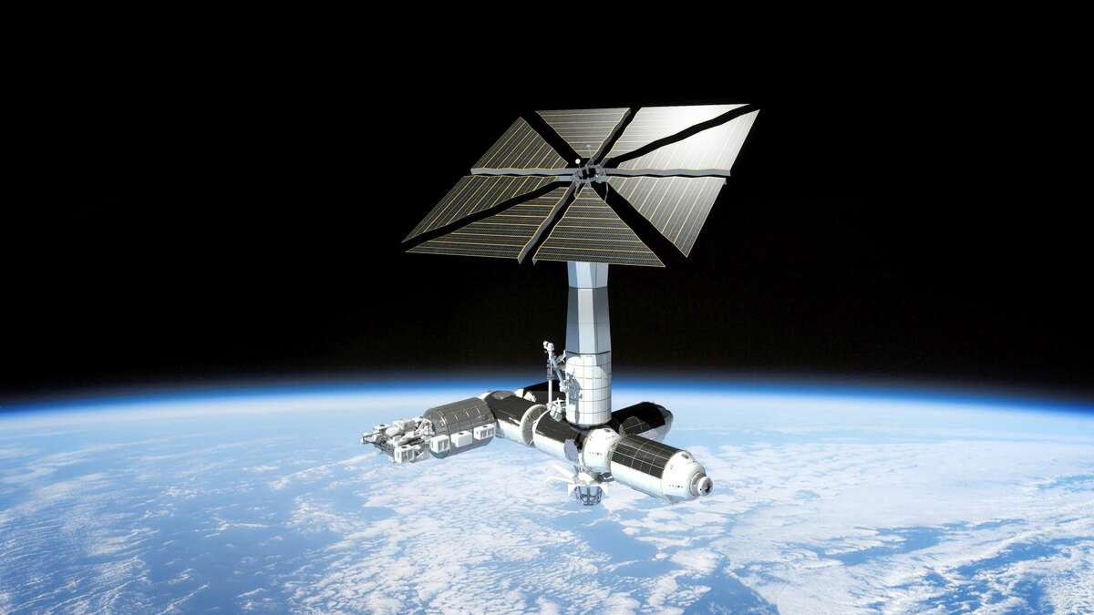 Pictured is a rendering of Axiom Space's proposed commercial space station.
