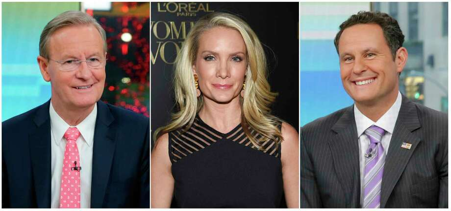 "This combination of photos shows Fox News Channel personalities, from left, Steve Doocy, Dana Perino and Brian Kilmeade. Doocy will host a cooking show, tied to a cookbook he's releasing, Perino will have a book club highlighting new releases and Kilmeade, a history buff, will host a show called, ""What Makes America Great,"" on the new streaming service Fox Nation, that launches Tuesday. Photo: AP / AP"