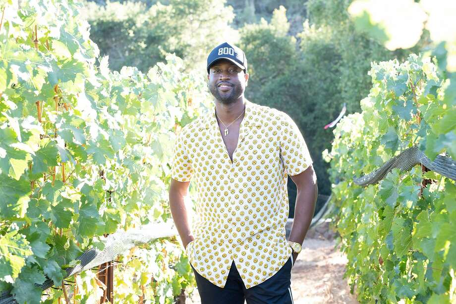 NBA star Dwyane Wade owns D Wade Cellars in partnership with Napa's Pahlmeyer family. Photo: Bob Metelus