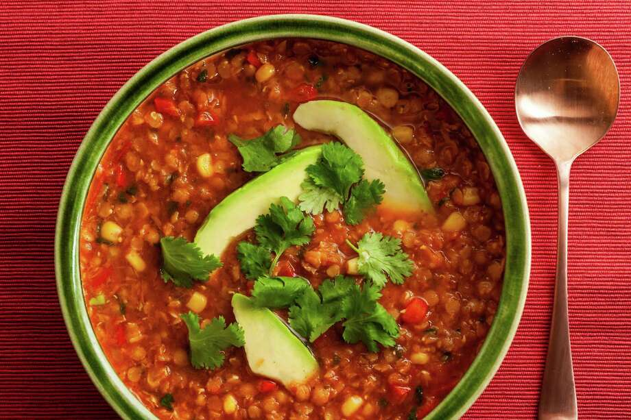A jarred ingredient makes this lentil soup almost effortless