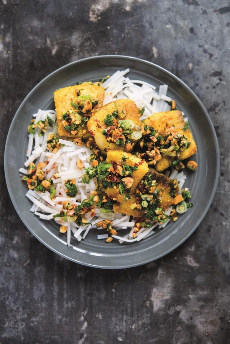 Recipe: Vietnamese Turmeric Fish with Wilted Herbs and Peanuts