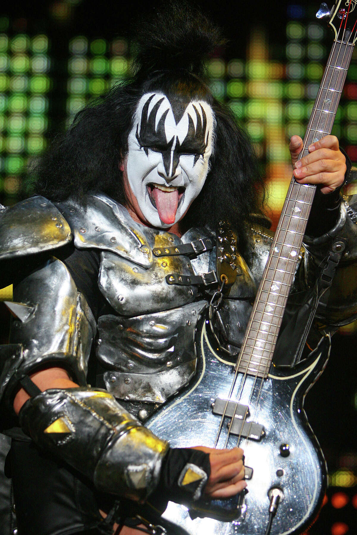 Gene Simmons shows his famous tongue during the KISS concert at the AT&T Center, September 19, 2010. (JENNIFER WHITNEY/ special to the Express-News)