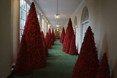 Bloody Christmas Tree.Melania Trump S Blood Red Christmas Trees Mocked With Memes
