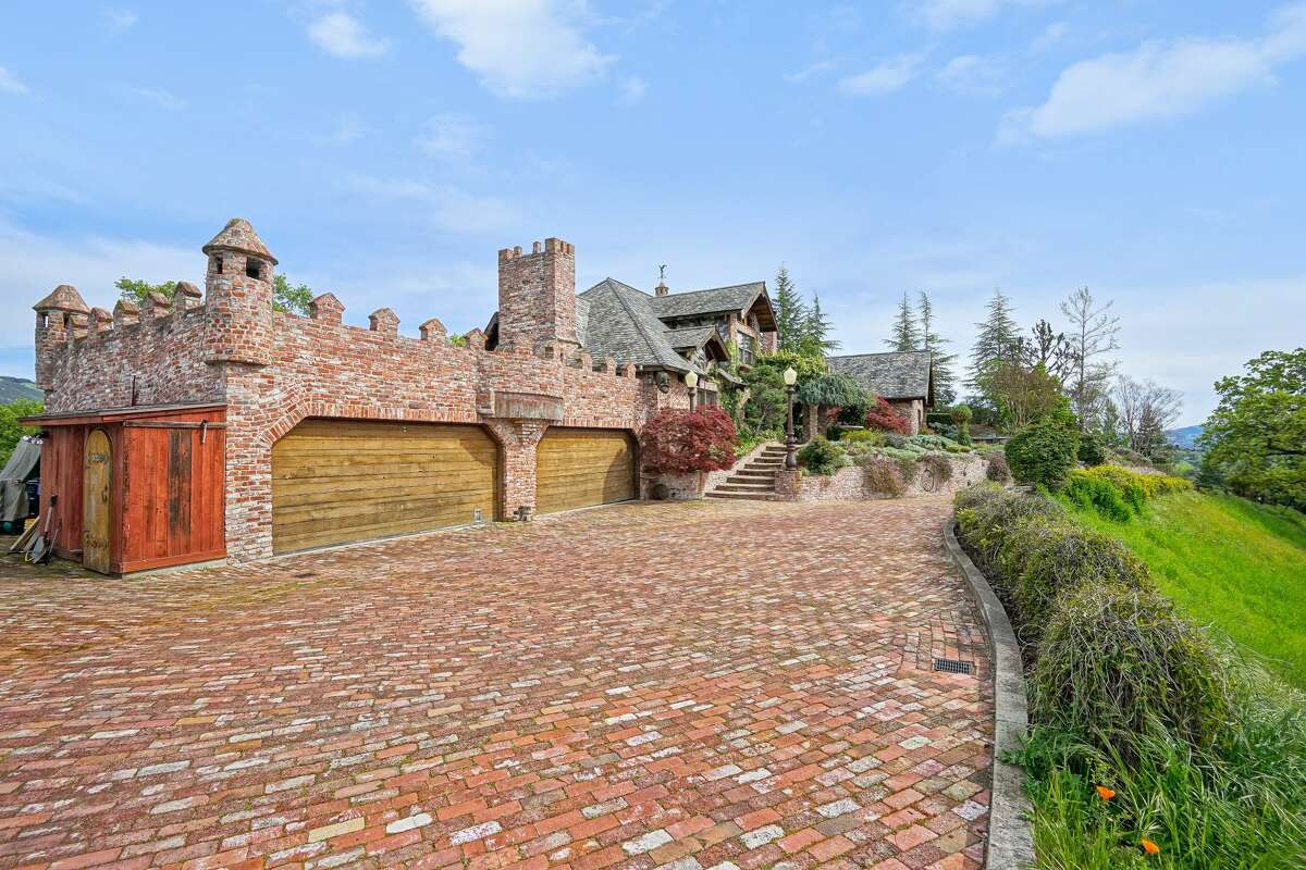 A castle tucked away in the hills below Mount Diablo at 176 Mountain Canyon Ln. in Alamo is listed for $3.475 million.