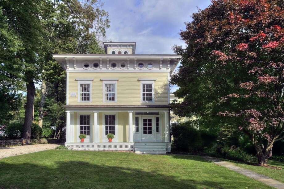 The Jesse Bradley house at 54 Wright Street is an Italianate-style colonial.
