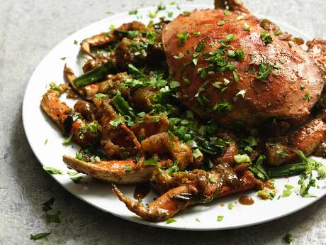 BERKELEY, CALIFORNIA - MAY 2018:  Great China: Ginger scallion crab.
