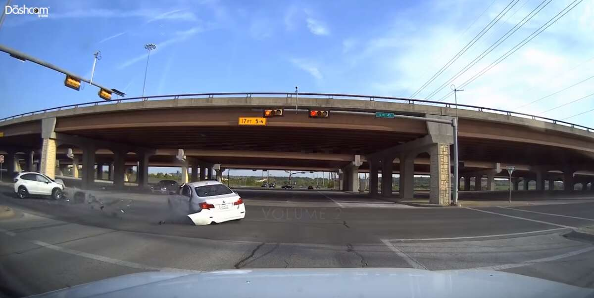 PHOTOS: Dashcam video highlights the worst of the worst drivers Dashboard cameras captured some insanely dangerous drivers around Austin this past year. This accident left shrapnel and one of the vehicle's wheels on the road. >>> See the most ridiculous moments in the video