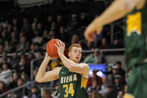 Siena senior forward Kevin Degnan said his team has to do a better job of getting back on defense. (Stew Milne)
