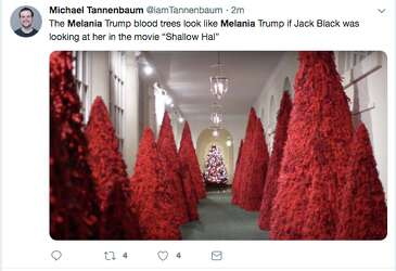 Oh Tannenbaum Film.Melania Trump S Blood Red Christmas Trees Mocked With Memes