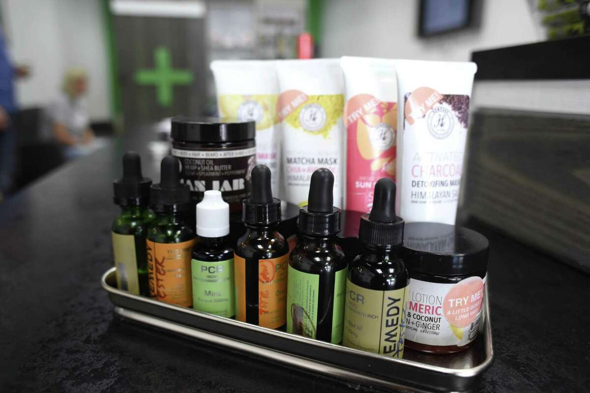 Hemp-derived CBD oil products are available at The Botanical Shoppe on Friday, Oct. 5, 2018.