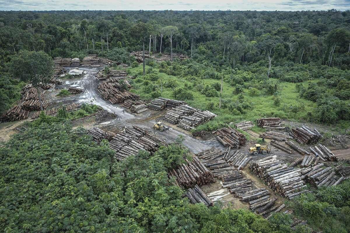 This May 8, 2018 photo released by the Brazilian Environmental and Renewable Natural Resources Institute (Ibama) shows an illegally deforested area on Pirititi indigenous lands as Ibama agents inspect Roraima state in Brazil's Amazon basin. Scientists warn that Brazil's President-elect Jair Bolsonaro could push the Amazon rainforest past its tipping point by loosening environmental protections, with severe consequences for global climate and rainfall. (Felipe Werneck/Ibama via AP)