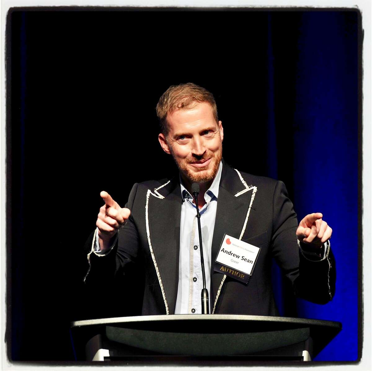 Author Andrew Sean Greer at the National Kidney Foundation's Authors Luncheon. Nov. 3, 2018.