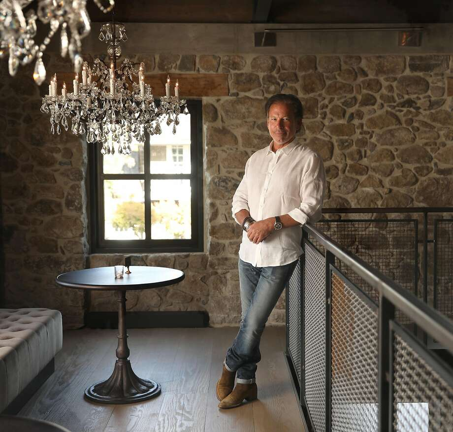RH Chairman and CEO Gary Friedman at RH Yountville's two-story two-story Wine Vault, housed in the historic Masonry building, renamed Ma(i)sonry. Photo: Liz Hafalia / The Chronicle
