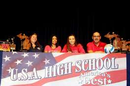 USA's Rylee Zimmer will continue her volleyball career after signing her letter of intent with Saginaw Valley State University.