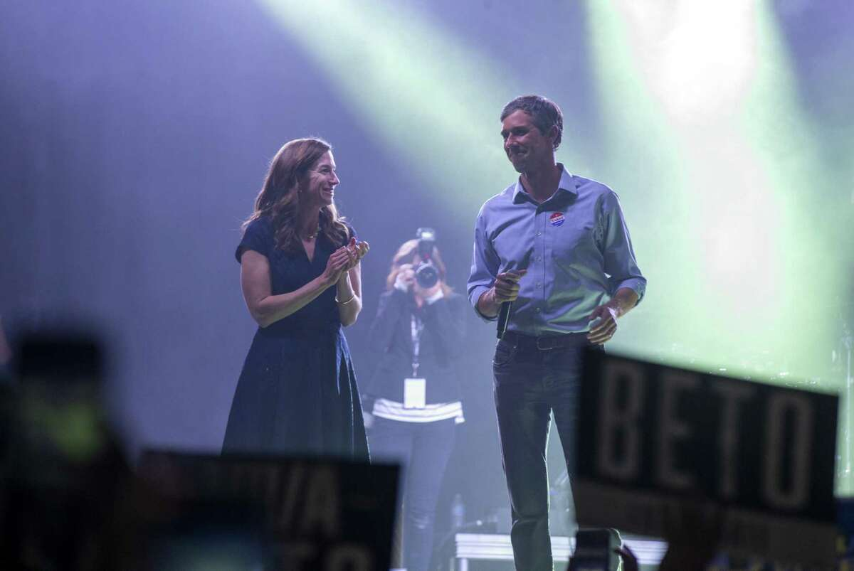 Beto O'Rourke and his wife Amy Sanders O'Rourke walk onto the stage to address his supporters after losing to Ted Cruz in the 2018 midterm elections. >>See the 'firsts' brought about by the 2018 midterm elections in the photos that follow...