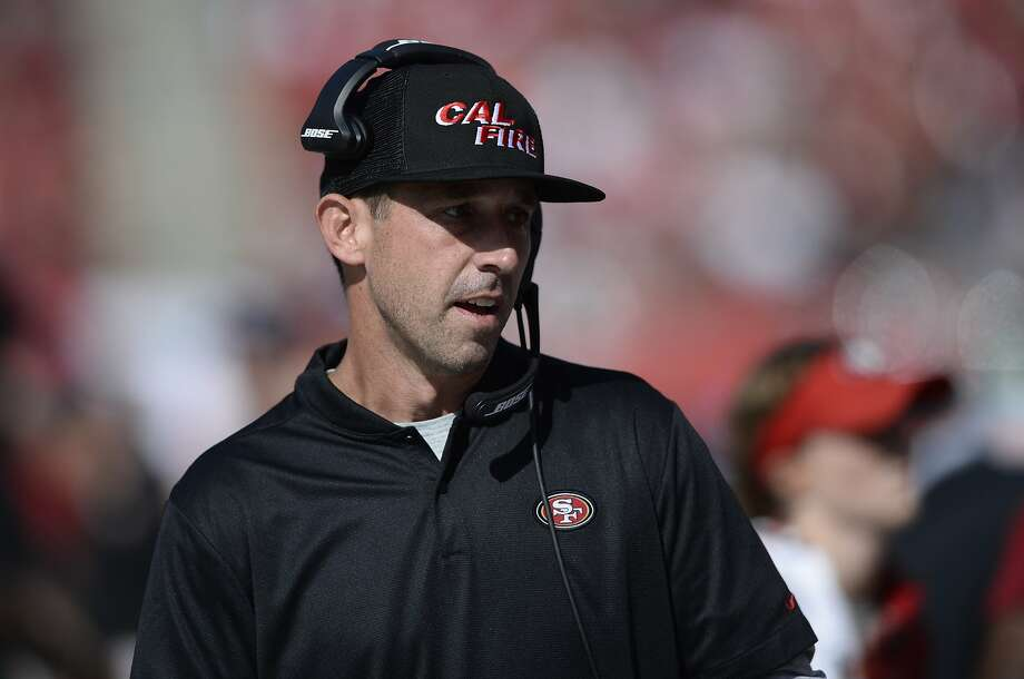 49ers head coach Kyle Shanahan spoke openly — and at length — on Monday about the team's decision to cut ties with Reuben Foster. Photo: Jason Behnken / Associated Press