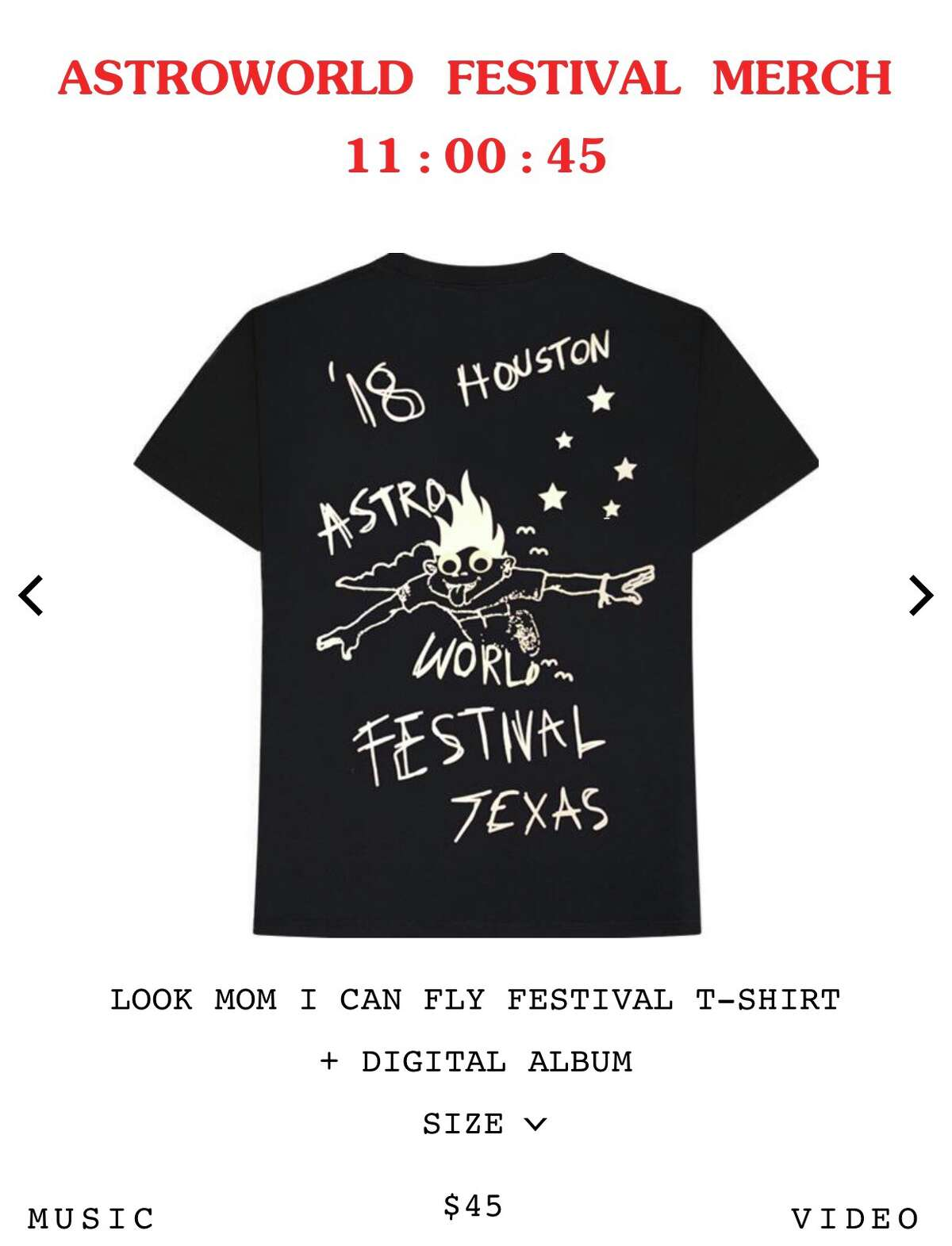 Travis Scott is selling limited quantities of his Astroworld Fest merch on his site.