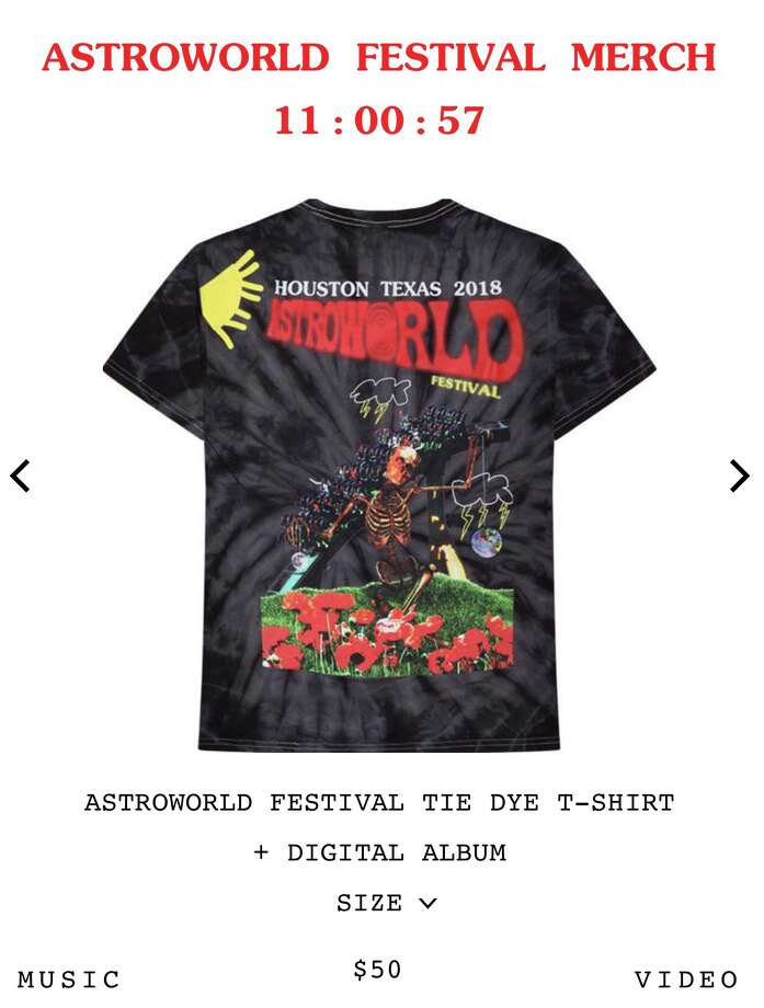 307bcd0e3611 Travis Scott is selling limited quantities of his Astroworld Fest merch on  his site. Photo