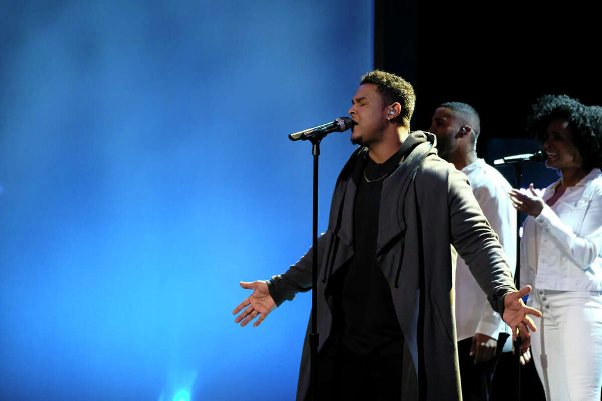 Port Arthur's DeAndre Nico during top 11 week on The Voice.