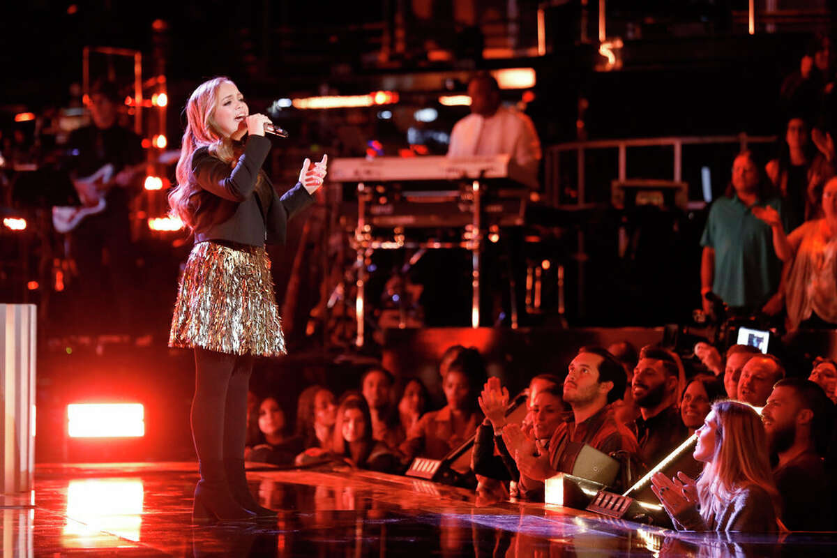 Houston singer Sarah Grace during top 11 week on The Voice.