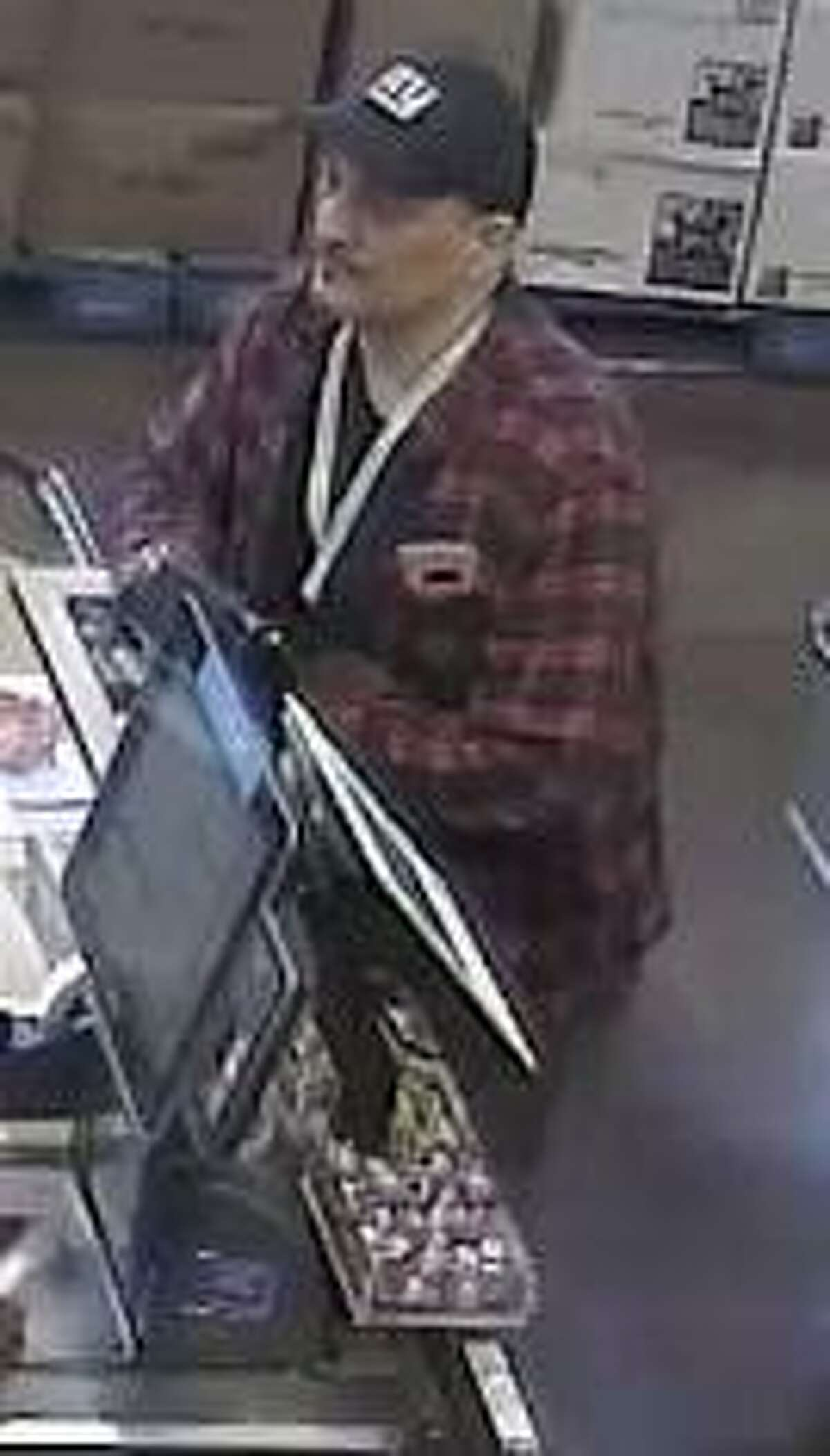 Westport police believe the two people pictured here might have been involved in the theft of some cash and credit cards from an area Whole Foods. Anyone with information regarding the identities of the two pictured individuals is asked to contact the Westport Police Department Detective Bureau at 203-341-6080.