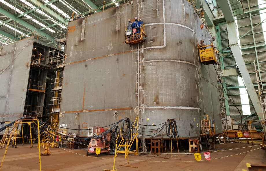 BP's new Argos platform for the deepwater Gulf of Mexico is currently under construction in South Korea. Photo: BP