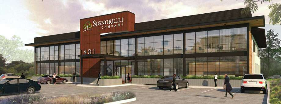 The Signorelli Company is building a new headquarters at the former KW Realty building on Woodlands Parkway, featuring more than 4,000 square feet of green space. The Woodlands. Photo: The Signorelli Co.