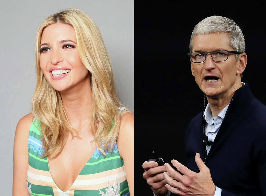 Ivanka Trump and Apple CEO Tim Cook. Photo: The Washington Post, Left; Getty Images, Right / 2014 The Washington Post
