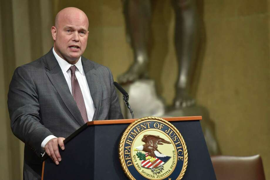 A San Antonio judge has ruled that the appointment of Matthew Whitaker as acting attorney general is valid and constitutional. The ruling is the first court test in the country over Whitaker's controversial appointment, and is likely to be viewed as a win for President Donald Trump. Photo: Nicholas Kamm /AFP /Getty Images / AFP or licensors