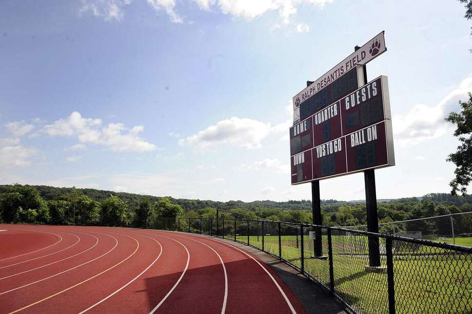 Funds are being raised to install turf at the Ralph DeSantis Field at Bethel High School. Photo Wednesday, Sept. 19, 2018. Photo: Carol Kaliff / Hearst Connecticut Media / The News-Times