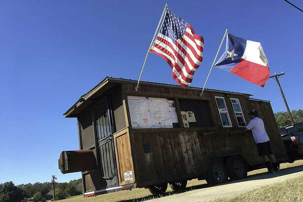 The Mesquite Shack BBQ trailer in San Antonio pulls double duty as a sales window and smokehouse. It will be at the Toni Jo's Food Truck Park in Helotes on Friday for the season debut.