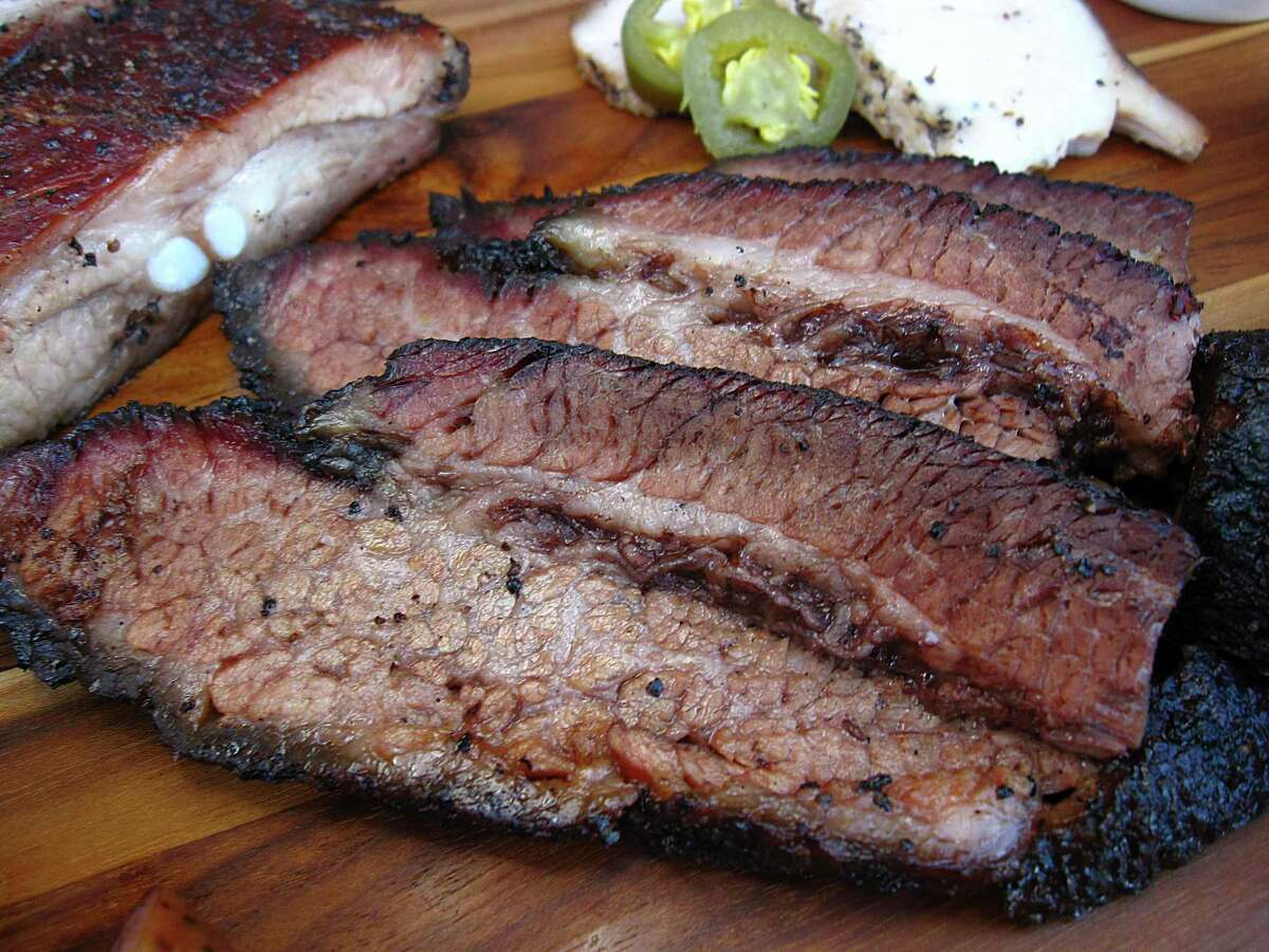 Brisket from the point, or fatty end, of the brisket at the Mesquite Shack BBQ trailer in San Antonio.