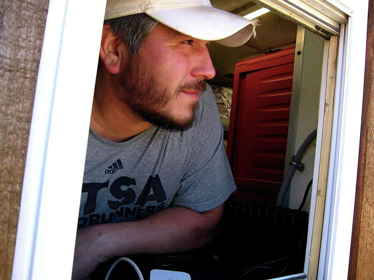 Vincent Cervantes is the owner and pitmaster of Mesquite Shack BBQ trailer in San Antonio.