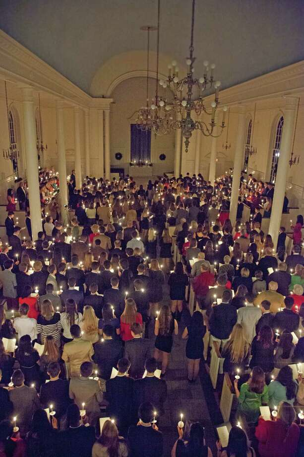 The 59th annual Festival of Lessons and Carols will be held Sunday, Dec. 2, in the Hotchkiss Chapel. Photo: Hotchkiss School