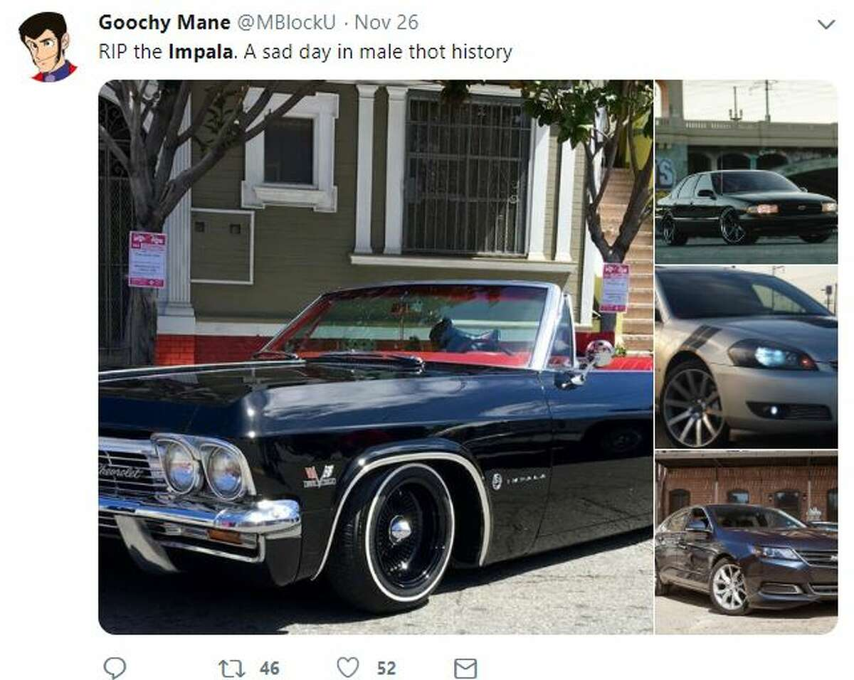 Twitter users rightfully are mourning the ending of the Chevy Impala.
